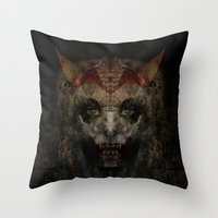 panic at the disco Throw Pillows featuring Panic by Zandonai