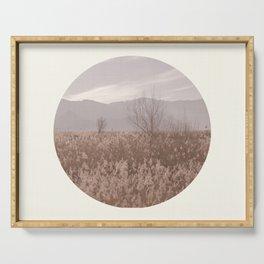 Landscape Circular I Serving Tray