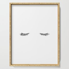 Closed eyes illustration - Lashes Serving Tray
