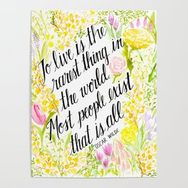 To Live Is the Rarest Thing Poster