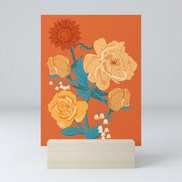 Paint by Number in Orange Mini Art Print