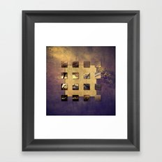 SQUARE AMBIENCE - Magic Tree - mixed-media collage Framed Art Print