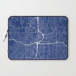 Atlanta Map, USA - Blue Laptop Sleeve