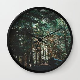 Dreamy Pacific Northwest Forest Wall Clock