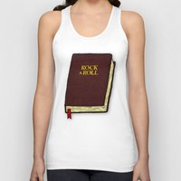 rock and roll Tank Tops featuring Rock & Roll Bible by Josh LaFayette