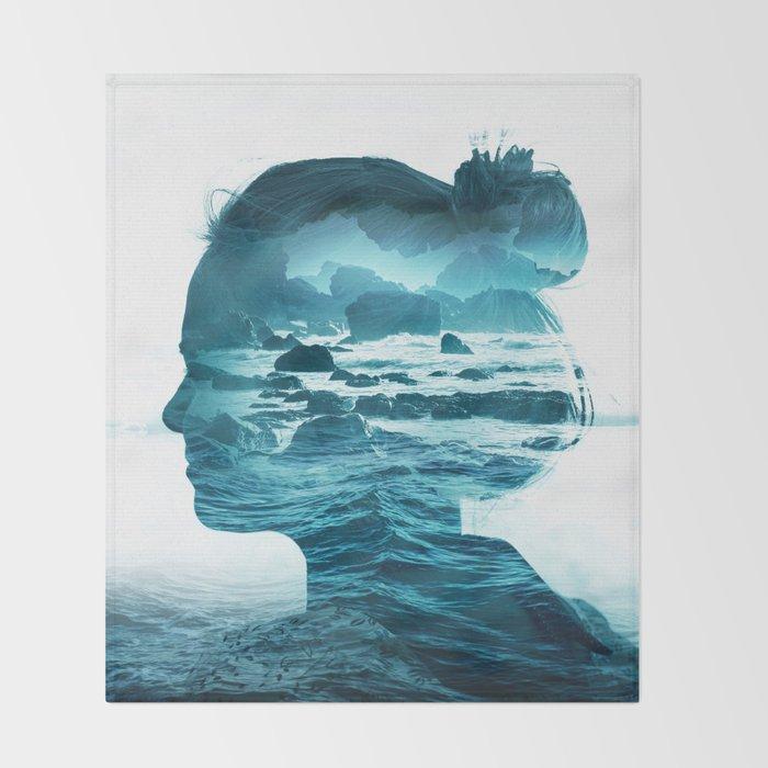 The Sea Inside Me Throw Blanket