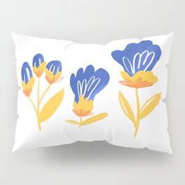 spring yellow floral hand drawing illustration for botanical home decor and wall art! Pillow Sham