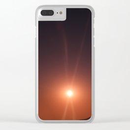 Purple Sunshine Clear iPhone Case