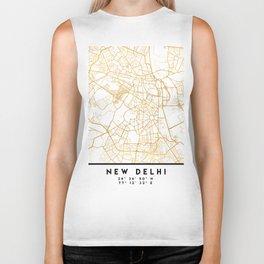 NEW DELHI INDIA CITY STREET MAP ART Biker Tank