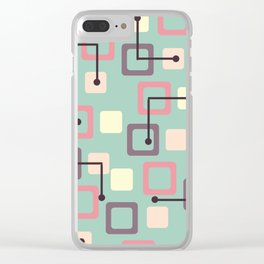 Vintage 1950s Tiles & Squares (Spring) Clear iPhone Case