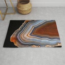 Layered agate geode 3163 Rug
