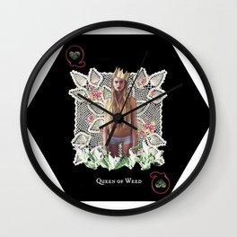 QUEEN OF WEED Wall Clock