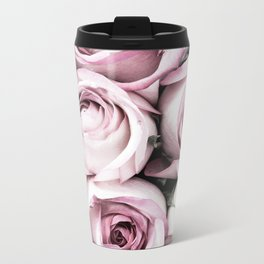 A Cascade of Perfectly Pink Roses Metal Travel Mug