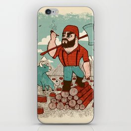 Paul Bunyan & Babe iPhone Skin