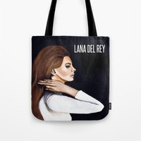 ultraviolence Tote Bags featuring WEST COAST by Alfonso Aranda