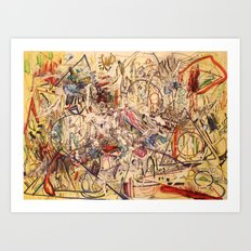 Experimental Rush Art Print