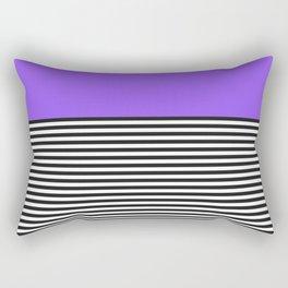 STRIPE COLORBLOCK {PURPLE} Rectangular Pillow