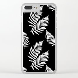 Fern Pattern Clear iPhone Case