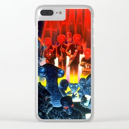 Space Alien Bar Band Clear iPhone Case
