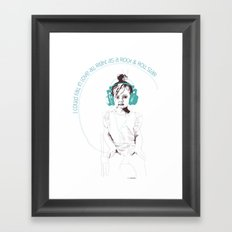 RocknRoll Girl Framed Art Print