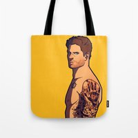 tattoos Tote Bags featuring Dean Tattoos by rdjpwns