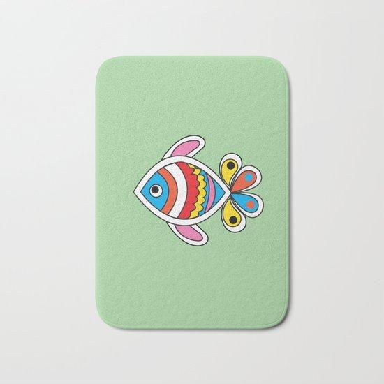 Color fish 1 Bath Mat