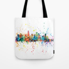 Los Angeles California Skyline Tote Bag