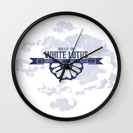 Order of the White Lotus World Map Wall Clock