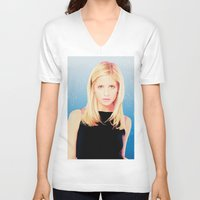 buffy the vampire slayer V-neck T-shirts featuring Buffy the Vampire Slayer, Cross by Your Friend Elle