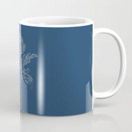 Chrysanthemum Blueprint Coffee Mug