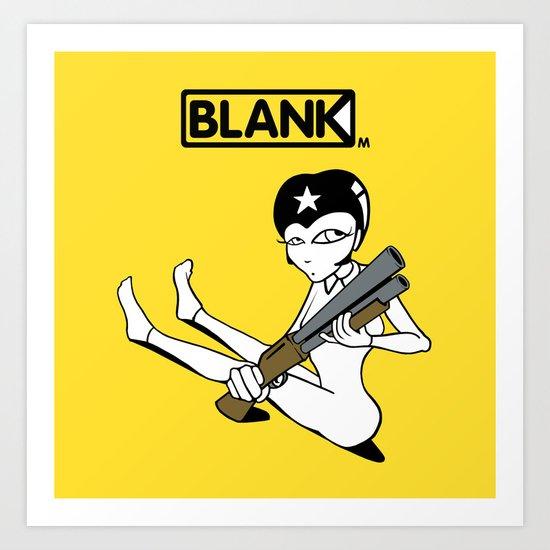 BLANKM GEAR - SHOTGUN GIRL T SHIRT Art Print