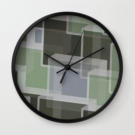Green Camo Lucite blocks Wall Clock