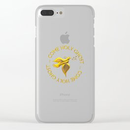Golden 3-D Look Come Holy Ghost Holy Spirit Clear iPhone Case