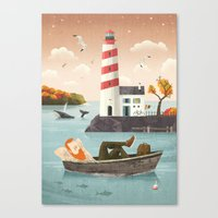 lighthouse Canvas Prints featuring Lighthouse by Seaside Spirit