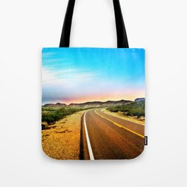 Open Road in Big Bend Tote Bag