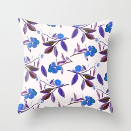 Clementines blue Throw Pillow