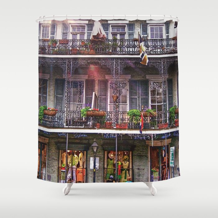 New Orleans French Quarter Iconic Architecture Shower Curtain