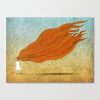 redhead Canvas Prints featuring Redhead by Mild Visualitis