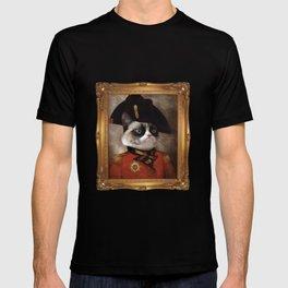 Angry cat. Grumpy General Cat. T-shirt