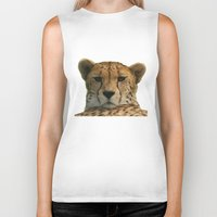 cheetah Biker Tanks featuring Cheetah by Sean Foreman
