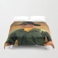 robert farkas Duvet Covers featuring Robert Duvall @ Apocalypse Now by Gabriel T Toro