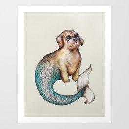 Franklin, the Merpuppy Art Print