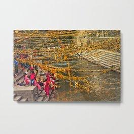 puja in kathmandu Metal Print