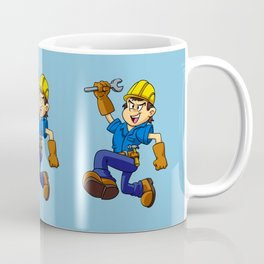 Running man with a wrench Coffee Mug