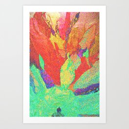 Flower Petals in Space/Time Art Print