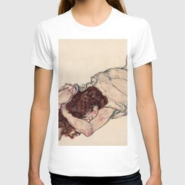 "Egon Schiele ""Kneeling Girl, Resting on Both Elbows"" T-shirt"