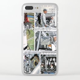Apollo 11 comic - page 4 Clear iPhone Case