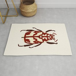 Red beetle insect Rug