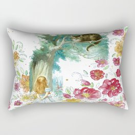 Floral Alice In Wonderland Rectangular Pillow