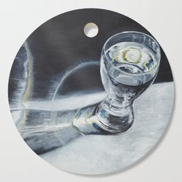 Glass of the water in the light Cutting Board